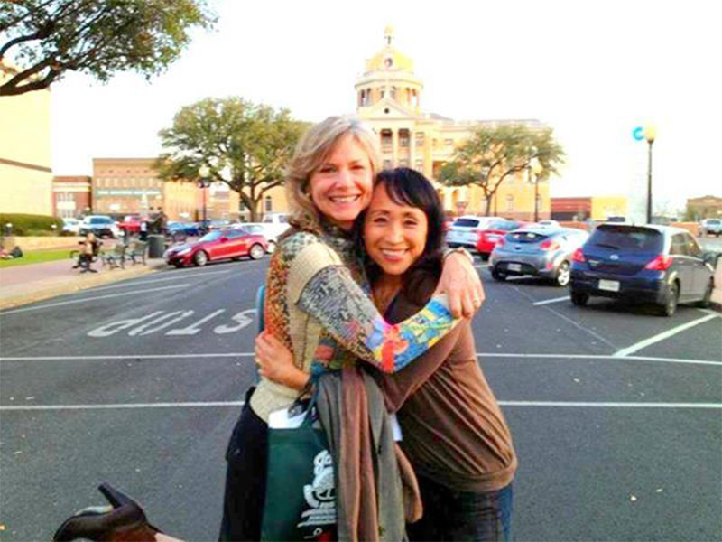 Healthfest, TX antics! Lani Muelrath and Miyoko Schinner