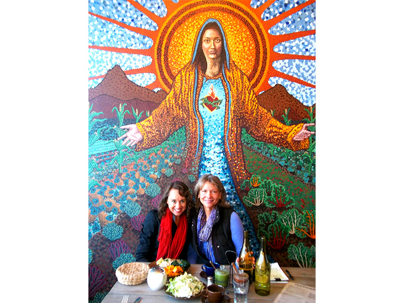 My dear friend Colleen Holland meeting up for lunch at Gracias Madre in SF, right around the corner from the VegNews offices