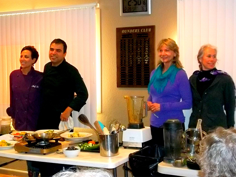 The celebrity judges panel and the Vegan Iron Chef competition, True North Health in Santa Rosa, CA