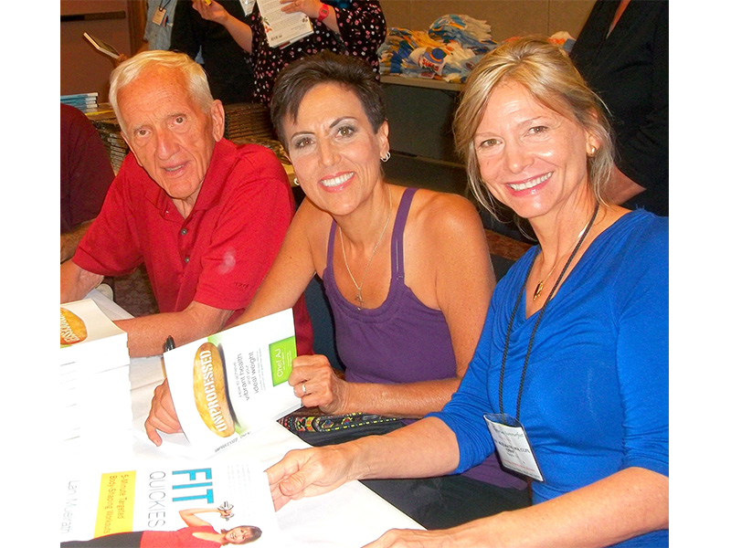 Book signing!  Sharing the authors table with T. Colin Campbell and Chef AJ