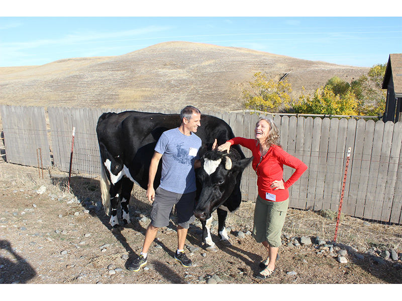 Gene Baur and Lani Muelrath at Farms Sanctuary