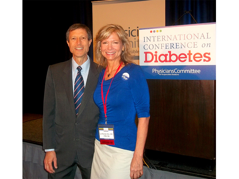 Dr. Neal Barnard invited me to present at the PCRM International Conference on Diabetes.  What an honor!