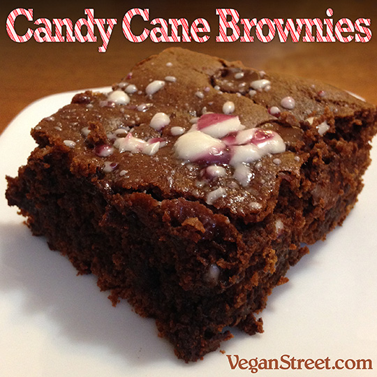 Candy Cane Brownies From Veganstreet.com