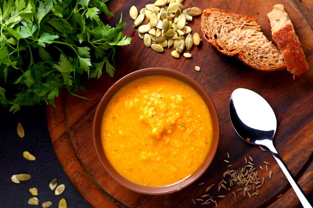 Curried Pumpkin Lentil Soup