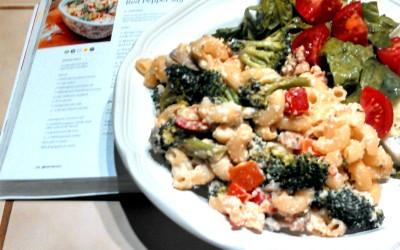 YumUniverse book giveaway, PLUS Creamy broccoli and red pepper macaroni recipe