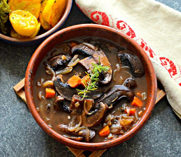 Portobello Pot Roast Recipe from The Plant-Based Journey