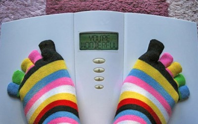 Be present with your poundage:  How to weigh mindfully, get out of fear of the scale, and use the bath scale to help you lose weight.